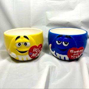 M&M's 2004 Valentines Ceramic 3D Candy Dish / Bowl